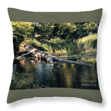 Tired Tree Throw Pillow