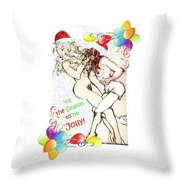 Tis The Season Holiday Card Throw Pillow