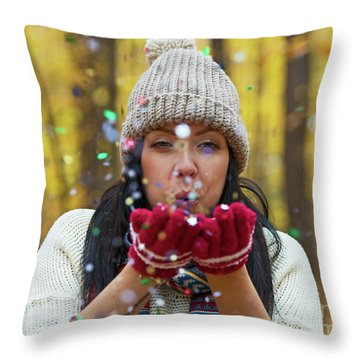Throw Pillow featuring the photograph Tis The Season.. by Nina Stavlund