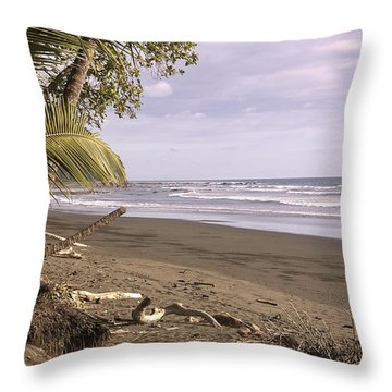 Tiskita Pacific Ocean Beach Throw Pillow