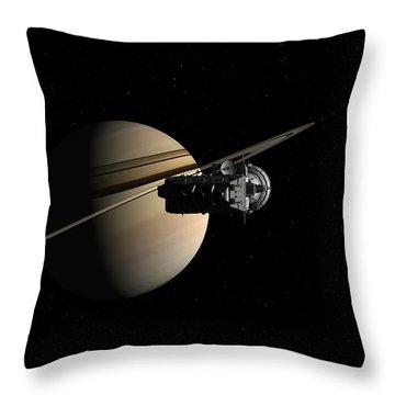 Titan In Sight Throw Pillow