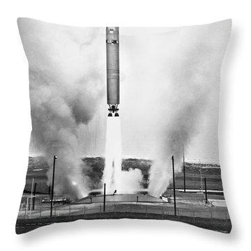 Titan Missile, 1964 Throw Pillow by Granger