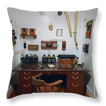 Titanic Communications Throw Pillow by DigiArt Diaries by Vicky B Fuller