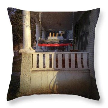 Titanic Porch Throw Pillow