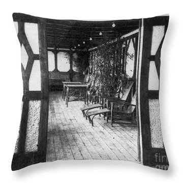 Titanic: Private Deck, 1912 Throw Pillow by Granger