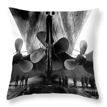 Titanic Propellers Throw Pillow