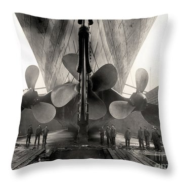 Titanic's Propellers  Throw Pillow