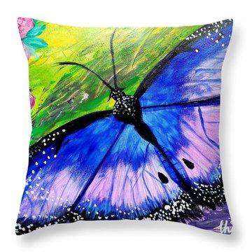 Titanium Butterfly Throw Pillow