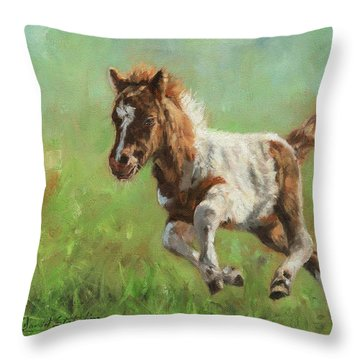 Titch. Minature Horse Foal Throw Pillow