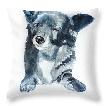 Titi A Little Stray Dog Throw Pillow