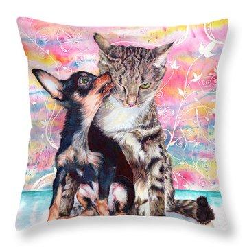 Tito And The Fonz Throw Pillow