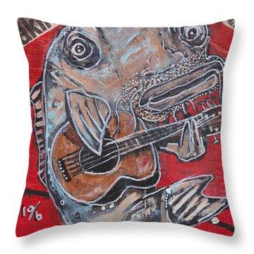 Blues Cat Throw Pillow