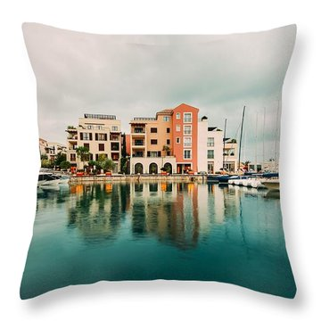 Tivat, Montenegro Throw Pillow