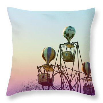 Tivoli Balloon Ride Throw Pillow