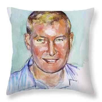 TJ Throw Pillow by Renuka Pillai