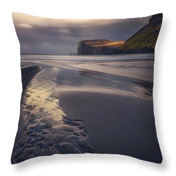 Tjornuvik Beach Throw Pillow