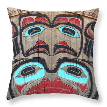 Tlingit Wall Panel Throw Pillow