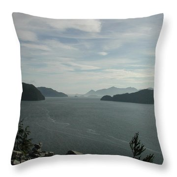 Tlupana Inlet Overlook Throw Pillow