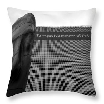 Throw Pillow featuring the photograph Tampa Museum Of Art Work A by David Lee Thompson