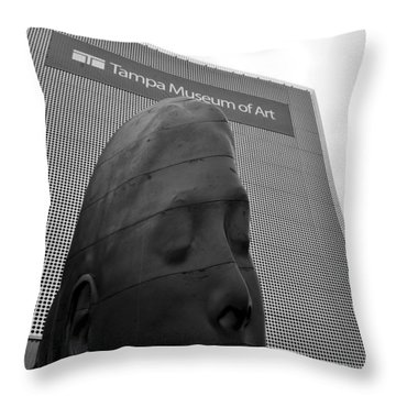 Throw Pillow featuring the photograph Tampa Museum Of Art Work B by David Lee Thompson