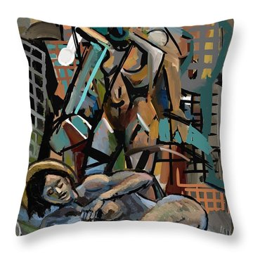 Throw Pillow featuring the digital art To All Those Who Have A Dream by Clyde Semler