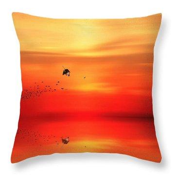 To Autumn Throw Pillow by Lourry Legarde