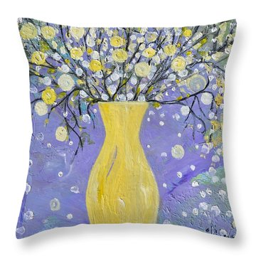 To Brighten Your Evening Throw Pillow by Evelina Popilian