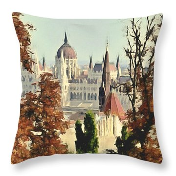 To Budapest With Love Throw Pillow