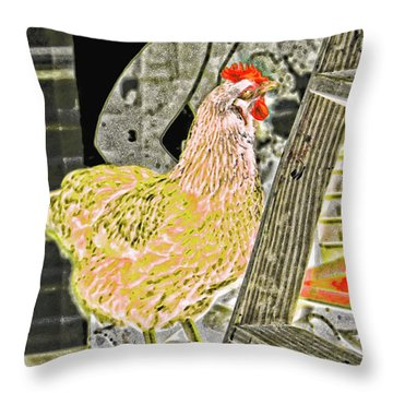 To Climb The Corporate Ladder . . . Throw Pillow