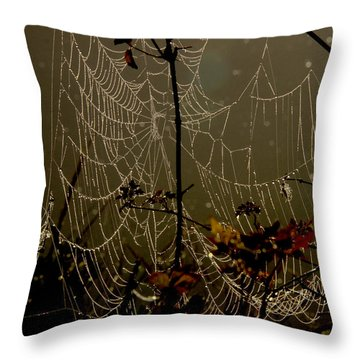 Orb Lites Throw Pillow