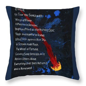 To Fall Throw Pillow