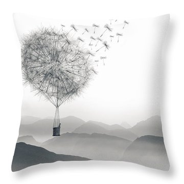 To Fly Only For A Moment Throw Pillow