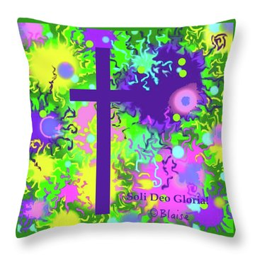 To God Be The Glory Throw Pillow