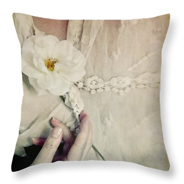 To Hold A Rose So Sweet Throw Pillow
