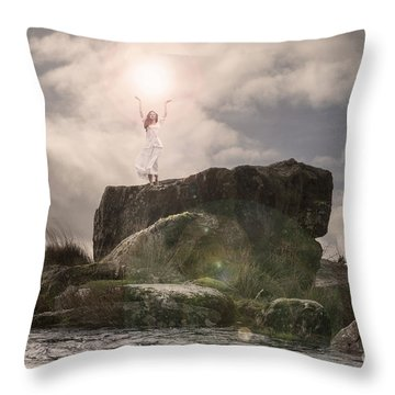 To Hold The Light Throw Pillow