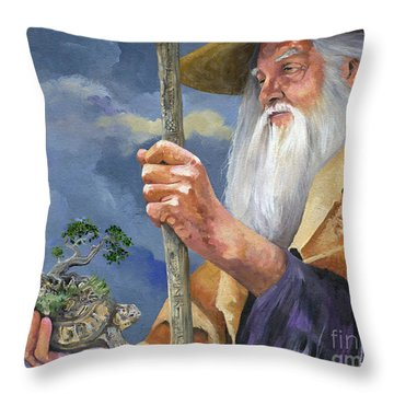 To Hold The World In The Palm Of Your Hand Throw Pillow