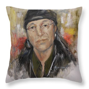 To Honor John Trudell Throw Pillow