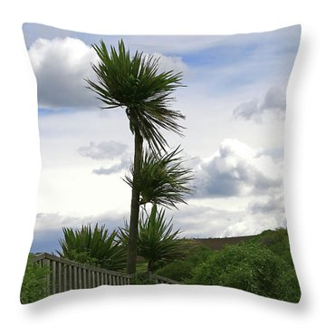 Throw Pillow featuring the photograph To Kouka Cabbage Tree by Nareeta Martin