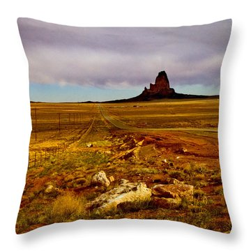 Navajo Land Throw Pillow by Gilbert Artiaga