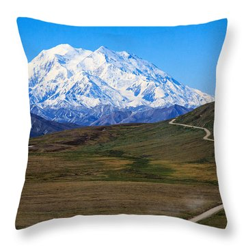 To Mount Mckinley Throw Pillow