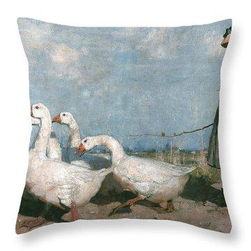 To Pastures New Throw Pillow