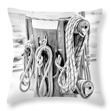 Throw Pillow featuring the photograph To Sail Or Knot by Greg Fortier