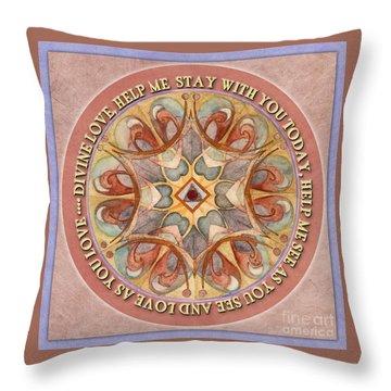 To See As Love Sees Mandala Prayer Throw Pillow