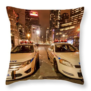Police Cars Throw Pillows