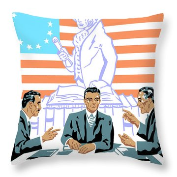 To Speak Up For Democracy Read Up On Democracy Throw Pillow