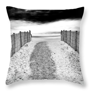 To The Beach At Lbi Throw Pillow
