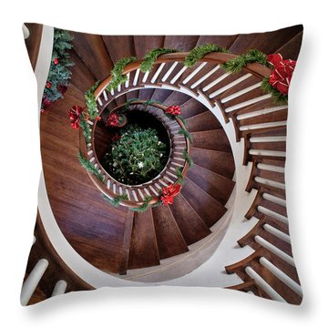 To The Bottom Of The Staircase Throw Pillow