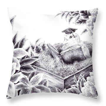 To The Future Throw Pillow