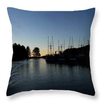 To The Harbor Throw Pillow