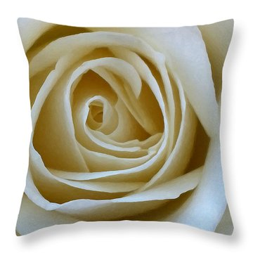 Throw Pillow featuring the photograph To The Heart Of The Rose by Julian Perry